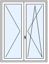Balkónové dveře dvoudílné