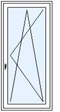 Bálkónové dveře jednodílné