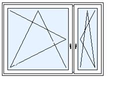 Okno dvoudílné A/B
